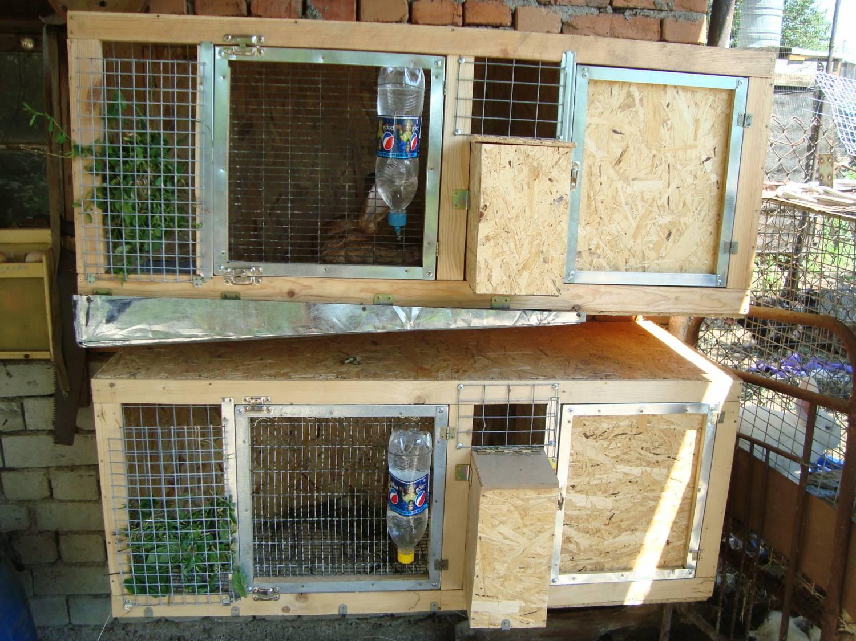 Видео построить домик для кроликов своими руками